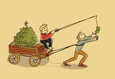 Fraud money vector illustration motivation sketch doodle stock illustration