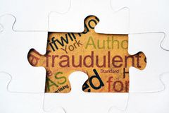 Fraud puzzle concept Stock Photography