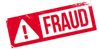 Fraud rubber stamp royalty free illustration