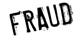 Fraud rubber stamp Royalty Free Stock Images
