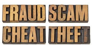 Fraud, scam, cheat and theft Stock Photography