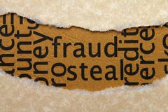 Fraud steal. Close up of Fraud steal stock photo