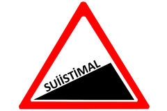 Fraud Turkish suiistimal increasing warning road sign with words Fraud  isolated on a white background Stock Images