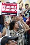 Fraude électorale 2012 du Mexique Image libre de droits