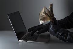 Fraude cibernético de la seguridad y de Internet Fotografía de archivo libre de regalías