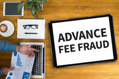 FRAUDE D'ADVANCE-FEE photographie stock libre de droits
