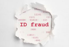 Fraude d'identification Image libre de droits