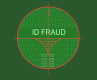 Fraude d'identification de cible Images stock