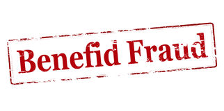 Fraude de Benefid illustration stock