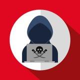 Fraude de Digitaces y diseño el cortar stock de ilustración