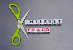 Fraude de Internet Imagen de archivo libre de regalías