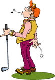 Fraude de joueur de golf Image libre de droits