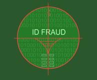 Fraude de la identificación de la blanco Imagenes de archivo