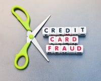 Fraude de la tarjeta de crédito Fotografía de archivo libre de regalías