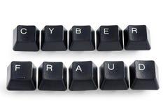 Fraude del Cyber imagen de archivo
