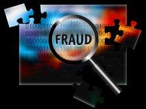 Fraude del foco de la seguridad ilustración del vector