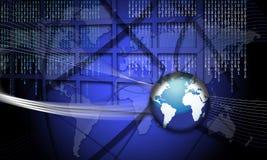 Fraude del mundo del foco del concepto de la seguridad stock de ilustración