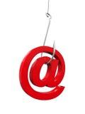 Fraude del phishing en línea stock de ilustración