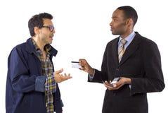 Fraude do cartão de crédito Fotos de Stock