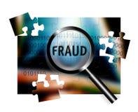 Fraude do foco da segurança ilustração do vetor
