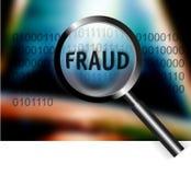 Fraude do foco do conceito da segurança Fotografia de Stock Royalty Free