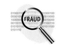 Fraude do foco do conceito da segurança do mundo Imagem de Stock