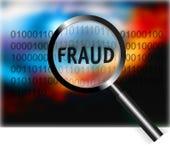 Fraude do foco do conceito da segurança Imagens de Stock