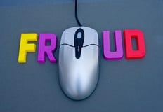 Fraude do Internet. Fotografia de Stock