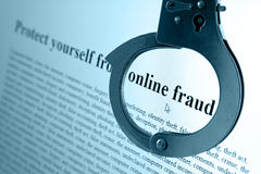 Fraude em linha imagem de stock royalty free