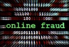 Fraude en línea Imagen de archivo