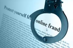 Fraude en línea Imagen de archivo libre de regalías