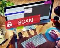 Fraude entaillant le concept de Scam Phising de Spam Photographie stock libre de droits