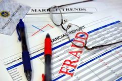 Fraude financeira Imagens de Stock Royalty Free