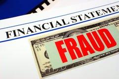 Fraude financière Photographie stock