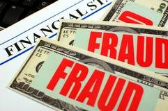 Fraude financière Image stock