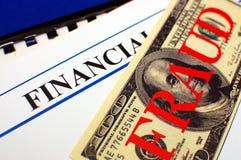 Fraude financiero Foto de archivo libre de regalías