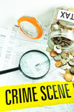Fraude fiscal Imagem de Stock Royalty Free
