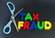 Fraude fiscal cortado Fotos de archivo libres de regalías