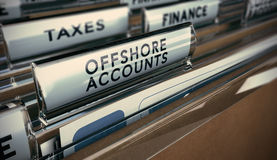 Fraude fiscale, compte en mer Photographie stock libre de droits