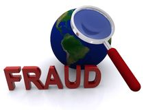 Fraude global ilustración del vector