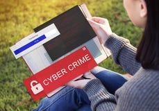 Fraude het Binnendringen in een beveiligd computersysteem het Concept van Spamscam Phishing Stock Afbeelding