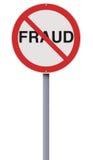 Fraude no permitido Fotografía de archivo libre de regalías