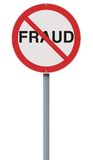 Fraude non permise Photographie stock libre de droits