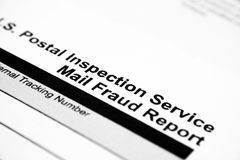 Fraude postal Fotos de archivo