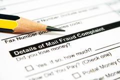 Fraude postal Imagen de archivo libre de regalías