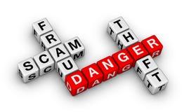 Fraude, timo, hurto Imagen de archivo libre de regalías