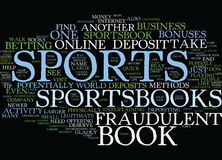 Fraudulent Sports Books Text Background  Word Cloud Concept Stock Photography