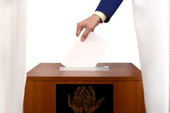 Fraudulent voting at the polling station Royalty Free Stock Photo
