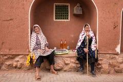 Frauen in Abyaneh, der Iran Stockfotografie