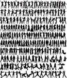 Frauen-Ansammlung - silhoue 233 stock abbildung